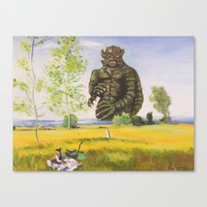 Kraken of Bezons Canvas Print