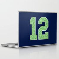 seahawks Laptop & iPad Skins featuring 12th Man by rhaverlock