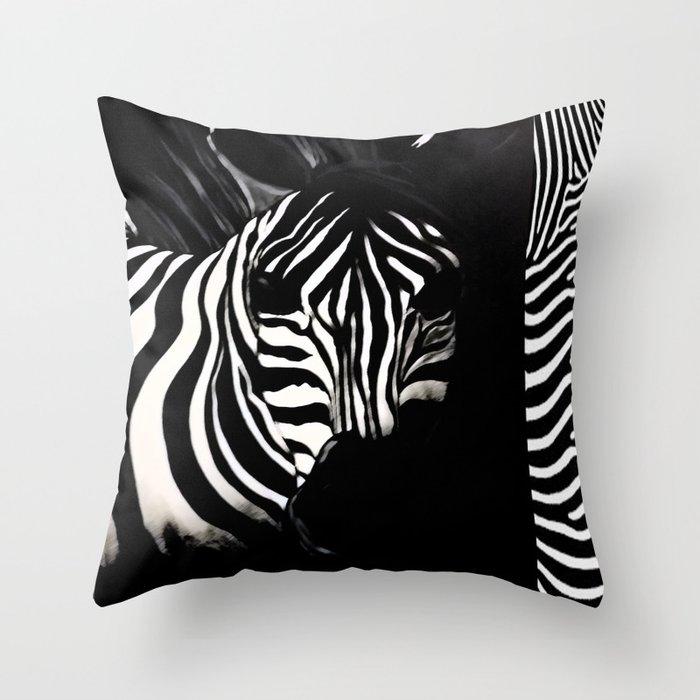 Safari Zebra Throw Pillow By Nvstudios Society6