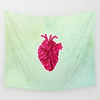 fries Wall Tapestries featuring Love for Fries by Ambi.Violent