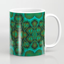 Petal Time Teal Green Coffee Mug