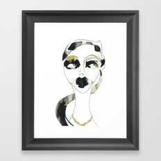 I dont care Framed Art Print