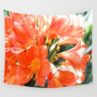 hibiscus Wall Tapestries featuring Hibiscus by Megan Phillips