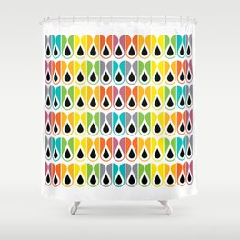 Scandinavian Pattern 120 (colorful loops) Shower Curtain