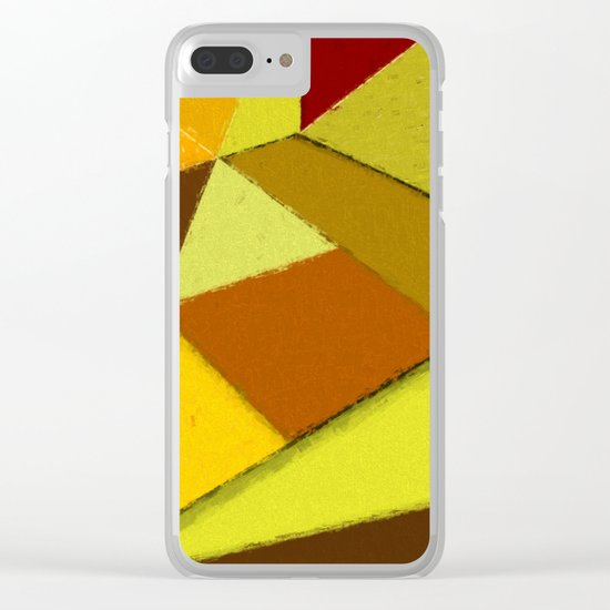 Abstract #377 Clear iPhone Case