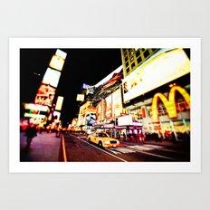 Times Square Lights - New York City Art Print