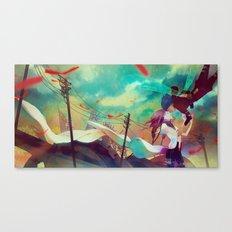 here Canvas Print