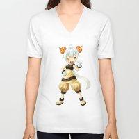 pumpkin V-neck T-shirts featuring Pumpkin by Freeminds