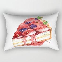 Strawberry Tart Rectangular Pillow