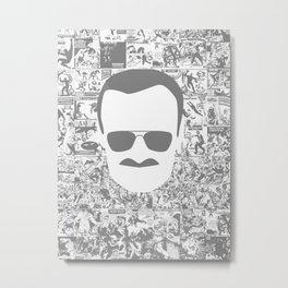Rip Stan lee superhero Metal Print