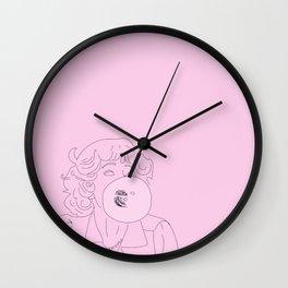 Frenchy Bubblegum Wall Clock