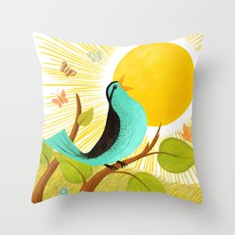 Early To Rise Throw Pillow