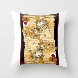'Mad Hatter' (Alice in Steampunk Series) Throw Pillow