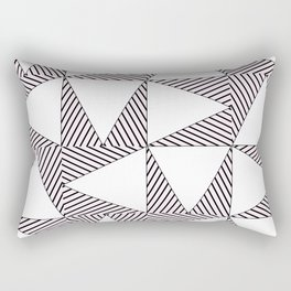 Audrey and Frank - Modern Envelopes (Pink) Rectangular Pillow