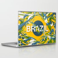 brazil Laptop & iPad Skins featuring Abstract Brazil by Danny Ivan