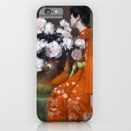 The Spring Flower by William Merritt Chase - Vintage Victorian Retro Fine Art Oil Painting iPhone Case