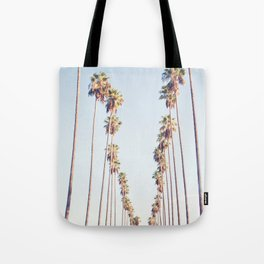 Palm tree stripes Tote Bag