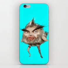 ugly angry angry man bird iPhone & iPod Skin
