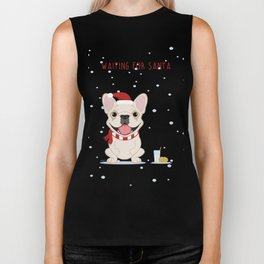 French Bulldog Waiting for Santa - Cream Edition Biker Tank