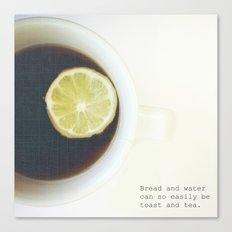Toast & Tea  Canvas Print
