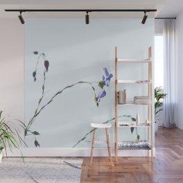 Blue Flax highkey SOOC by CheyAnne Sexton Wall Mural