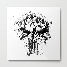 Concrete Punish Skull Metal Print