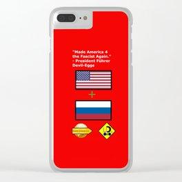 Made America 4 the Fascist Again Clear iPhone Case