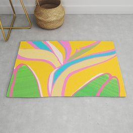 Bird of Paradise III - Bright Tropical Flower Rug