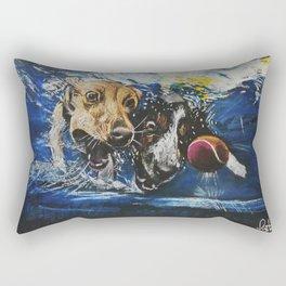 Underwater dogs Rectangular Pillow