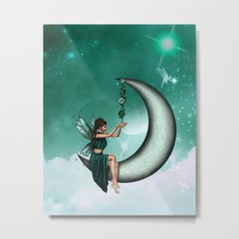 Wishing Moon Metal Print