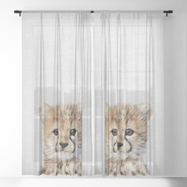 Baby Cheetah - Colorful Sheer Curtain