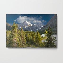 Mountain Range at Glacier National Park Metal Print