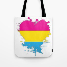 Pansexual Heart Tote Bag