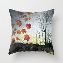 October (Falling) Throw Pillow
