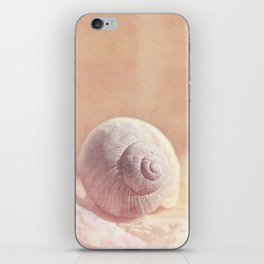 APRICOTEE - Monochrome still life with pink snail shell  iPhone Skin