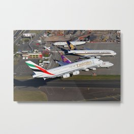 Emirates A380 Metal Print