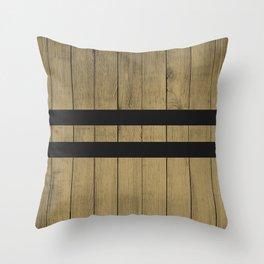 Design Brown Wood Stripes Throw Pillow