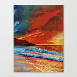 Sunlit Waves Canvas Print