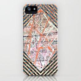 Flight of Color - diamond blue graphic iPhone Case