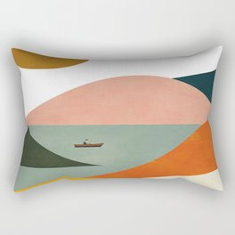 El Barquero print Rectangular Pillow