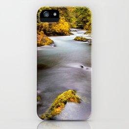McKenzie River Oregon Autumn Wall Art iPhone Case