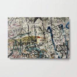 Berlin Wall Graffiti Metal Print