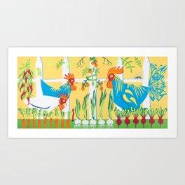 Earlybirds Art Print