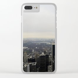 Grey Clouds over Central Park, NYC Clear iPhone Case