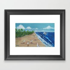 Beach Birds Framed Art Print