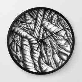 Freedom and restraint Wall Clock