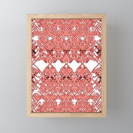 Red Lace Royshay  Framed Mini Art Print