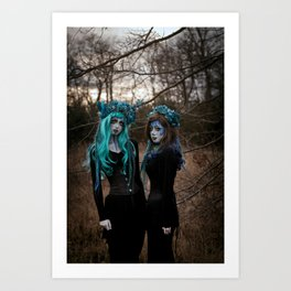 Witch Sisters I Art Print