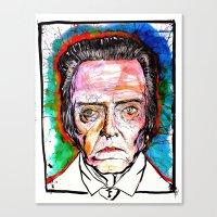 christopher walken Canvas Prints featuring Christopher Walken by Eric Sokoloff