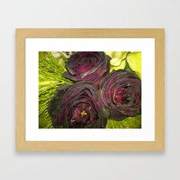 Purple Flowers 1 Framed Art Print